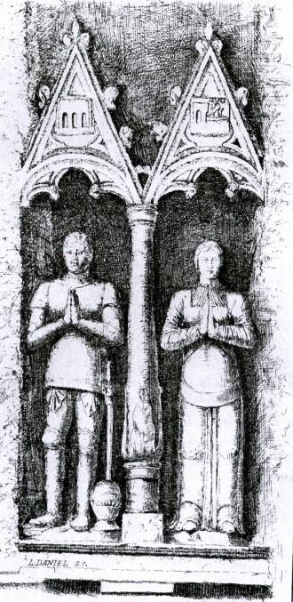 François de Pontbriand, et sa première épouse, Anne Grossolles-Flamarens